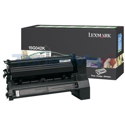 LEXMARK C752 PRINT CARTRIDGE BLACK RP 15K